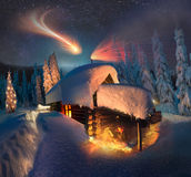 Haus von Santa Claus Lizenzfreie Stockfotografie