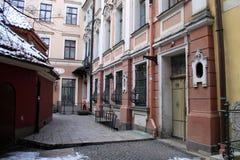 Haus von Sherlock Holmes in Riga Lizenzfreies Stockfoto