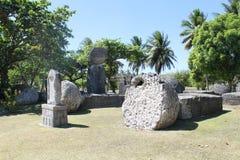 Haus von Taga auf Tinian lizenzfreies stockbild