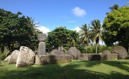 Haus von Taga Tinian stockbild