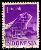 Haus von Torajan-Leuten in Süd-Sulawesi, Indonesien lizenzfreies stockfoto