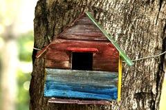 Haus von Vögeln befestigte zu den Bäumen im Park lizenzfreies stockbild