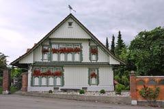 Haus in Wasserburg morgens Bodensee Lizenzfreies Stockbild