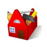 Haus-Werkzeugkasten Stockbild