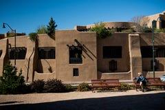 Haus, wie in Santa Fe gesehen stockbild