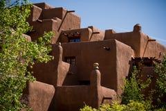 Haus, wie in Santa Fe gesehen lizenzfreies stockbild