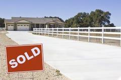 Haus wird verkauft Stockfoto