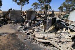 Haus zerstört Stockfoto
