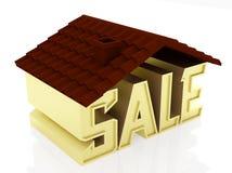 Haus zu verkaufen Stockfotografie