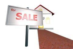 Haus zu verkaufen Stockbild