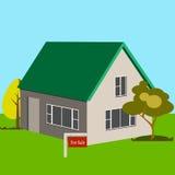 Haus zu verkaufen-Ikone Lizenzfreies Stockbild