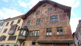 Haus zum Ritter, Schaffhausen, Ελβετία Στοκ Εικόνες