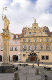 Haus zum Roten Ochsen, Fish Market Square, Erfurt. Red Ox House (Haus zum Roten Ochsen), a historical building on Fish Market Square in Erfurt nou housing an art Royalty Free Stock Photos