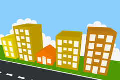 Haus zwischen Gebäuden Lizenzfreies Stockfoto