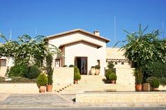 Haus in Zypern Stockbild