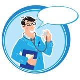 Hausarzt. Designschablone Stockfoto