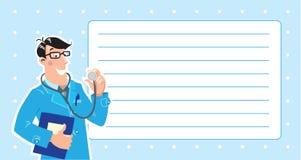 Hausarzt. Designschablone Lizenzfreies Stockbild