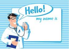 Hausarzt. Designschablone Lizenzfreie Stockbilder