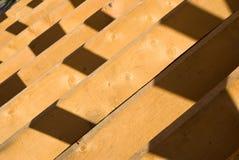 Hausaufbaufeld Stockfoto