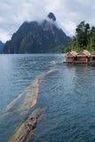 Hausboot in der Verdammung Lizenzfreie Stockfotografie