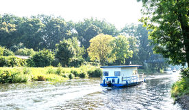 Hausboot im Havel Stockbilder