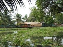 Hausboot in Indien Stockfotos