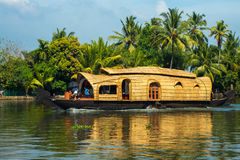 Hausboot in Kerala, Indien stockfotos