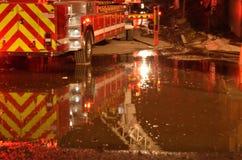 Hausbrand in Oakland Kalifornien Lizenzfreies Stockbild
