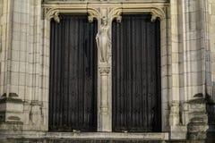 Hausdetails in Brügge, Belgien lizenzfreie stockfotografie