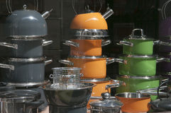 Hausehold appliances shop window Royalty Free Stock Images