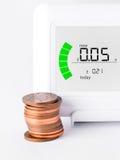 Hausenergiemeter lizenzfreie stockfotografie