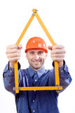 Hausentwerfer   Lizenzfreies Stockfoto