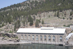 Hauser Dam Generator House Stock Photo