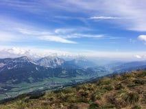 Hauser Kaibling, Steiermark/Österrike - September 16 2016: sikt fr Arkivbild