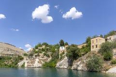 Hauses in Halfeti, Sanliurfa, Turchia fotografia stock