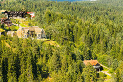 Hauses at Holmenkollen Royalty Free Stock Image