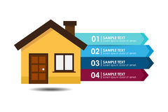 Hausfahne infographic Stockfotos