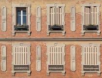 Hausfassade in Colmar Stockfoto