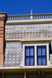 Hausfassade des 19. Jahrhunderts Lizenzfreies Stockfoto