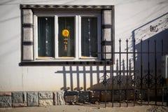 Hausfenster Stockfotos