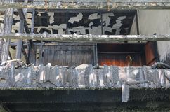 Hausfeuerdetail-Bildfeuersbrunst Lizenzfreies Stockfoto