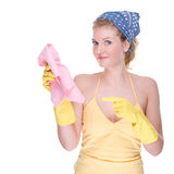 Hausfrau bei der Arbeit Stockbilder