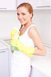 Hausfrau zu Hause Lizenzfreies Stockfoto