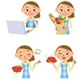Hausfraufamilienbudget PC-Einkaufen Lizenzfreies Stockfoto