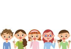 Hausfraugruppe Stockfoto
