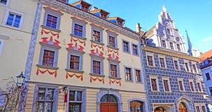 Hausfront in Sachsen Lizenzfreies Stockbild