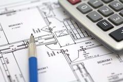 Hausfußbodenplan Lizenzfreie Stockbilder