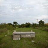 Hausgrundlage nach Hurrikan Katrina stockfotografie