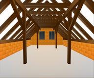 Haushahndachboden im Bau  lizenzfreie abbildung