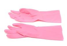 Haushalts-Gummi-Handschuhe lizenzfreies stockbild